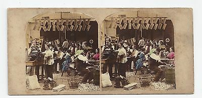 Stereo Stereoview Genre PHOTOGRAPHER Interior of Stereographic Manufactory 1860