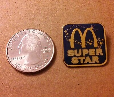 Vintage Mcdonald's Super Star!  Hat Lapel Pin
