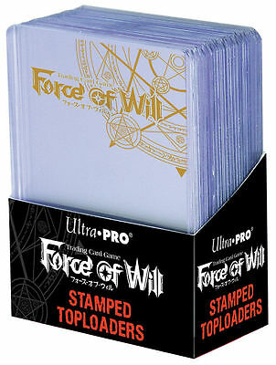 Ultra Pro 25 Regular Toploader Clear Rigid Sleeves 3 '' X 4 '' Force Of Will