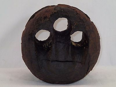 "Large 8"" Antique Ships Lignum Vitae Nautical DEADEYE PULLEY BLOCK Weathered"