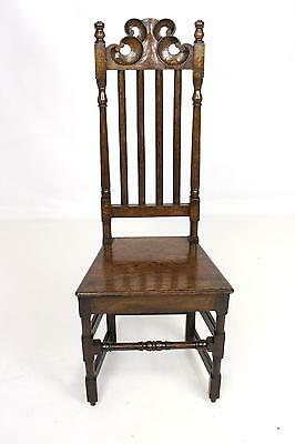 Antique Oak Hall Bedroom Chair - FREE DELIVERY -