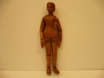 Antique 19Th Century Wood Carved Articulated Lady Mannequin Doll  Sale !!