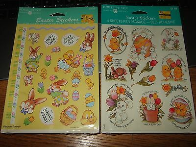 Vtg lot 2 packs american greetings easter spring stickers nos sealed bloomer new