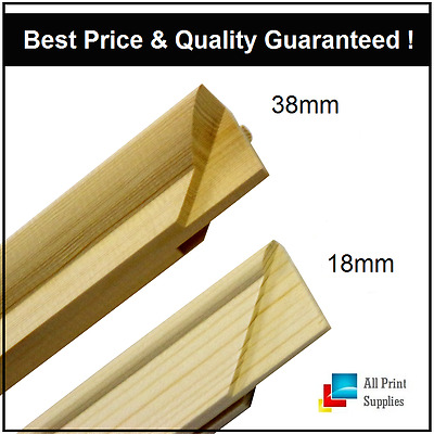 Canvas Stretcher Bars,Canvas Frames, Pine Wood 18mm & 38mm Thick-Sold By Pair…B