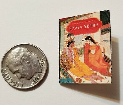 Miniature Dollhouse Book Barbie  Book 1//12 Scale  Indian Kama Sutra Hindu book