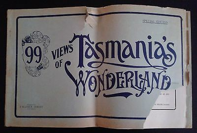 99 Views of Tasmania's Wonderland Special Edition  History Tasmania Antiquarian