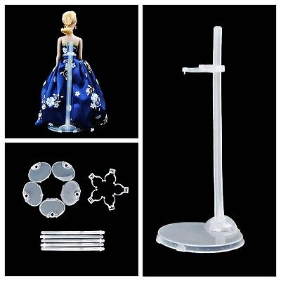 Plastic Accessories For Barbie Dolls 5 Pcs Doll Stand Display Holder