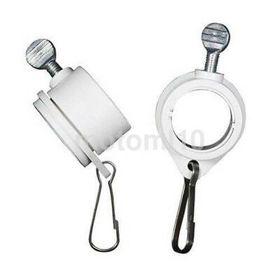 White Plastic&Steel Flag Mounting Rings for 1 Inch Pole, Set of 2 Hot US