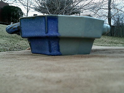 Art Pottery - Octagon Bowl - Signed - Tenneesse Pottery - Free Shipping