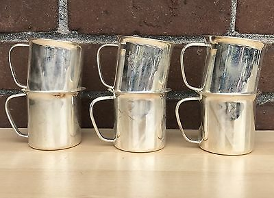 International Silver Company Set Of 6 Cup Holder Cups Silver Plated Excellent