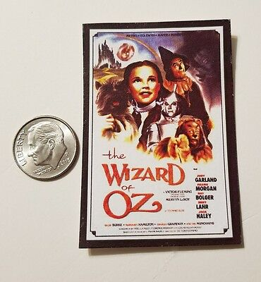 1 Miniature dollhouse 1/12 Scale  Poster Old Movie Wizard of Oz Just Garland