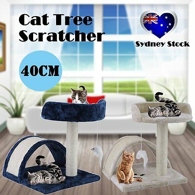 Cat Scratching Post Tree Gym House Furniture Scratcher Pole Toy Small 40cm OK