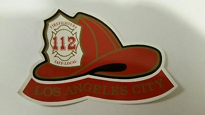 Los Angeles City Firefighter Helmet Sticker/Decal Weatherproof 4.5x3in