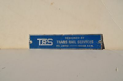 NSW. TRS. builders plate