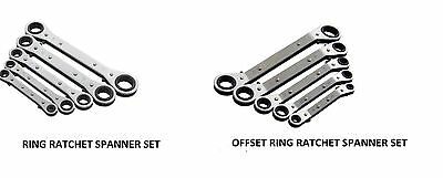 5 pcs HEAVY DUTY RING RATCHET SPANNER - Wrench Set  or OFFSET  Wrench Set