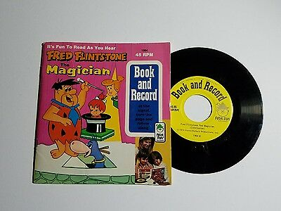 Vintage Fred Flintstone~ The MAGICIAN~ Book and Record