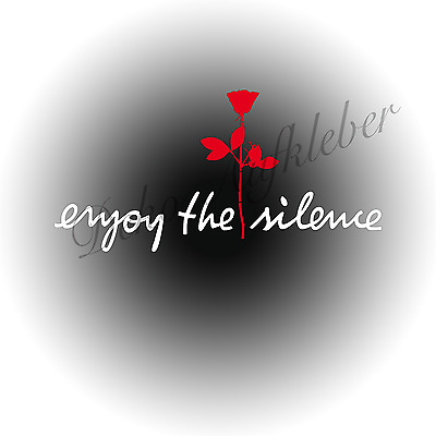2 x Enjoy the silence + Rose Aufkleber Auto Deko Folie Depeche Mode