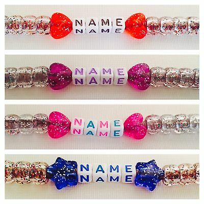 Personalised Sparkle Bead Dummy/soother/pacifier Clips/baby Gifts @beaderboo