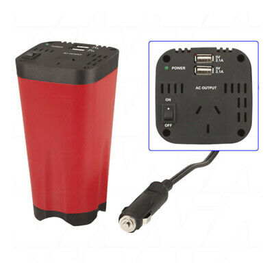 POWERTECH 150W Can-Sized Modified Sinewave Inverter with 2.1A USB Output