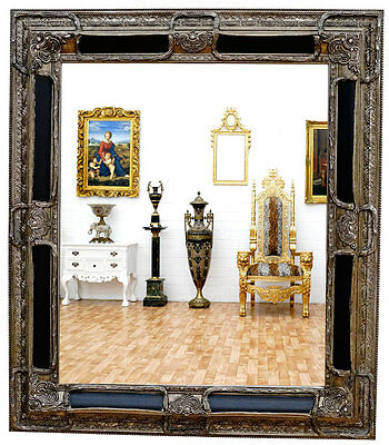 miroir baroque noir argente argent 152x92cm style louis xv xvi empire eur 399 00 picclick es. Black Bedroom Furniture Sets. Home Design Ideas