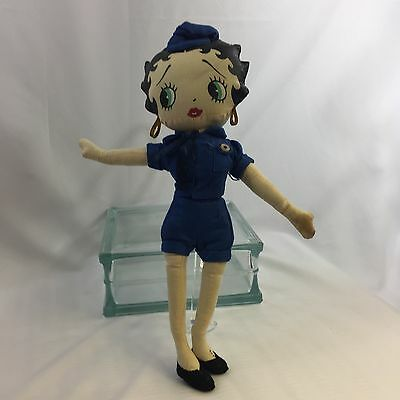 "Cute Betty Boop Policewoman  Kellytoy 13"" Vintage Collectible Toy Stuffed Doll"