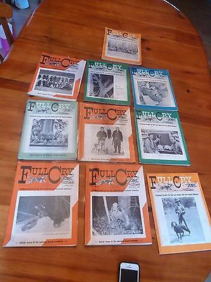 Vintage Full Cry Magazine Lot of 10 Hunting Dogs 1955 1972 1973 1962