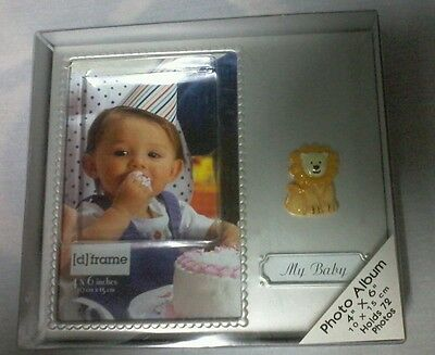 PEARL METAL  FRAME BABY ALBUM WITH LION MOTIF. [d] FRAME NEW WITH GIFT BOX