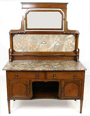 Antique Inlaid Washstand or Dressing Table with Mirror - FREE DELIVERY -