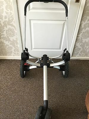 Quinny Buzz CHASSIS with rear & front wheels silver frame