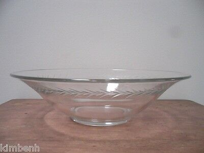 """Vintage 12"""" Flared Bowl """"Holly"""" Pattern by Fostoria"""