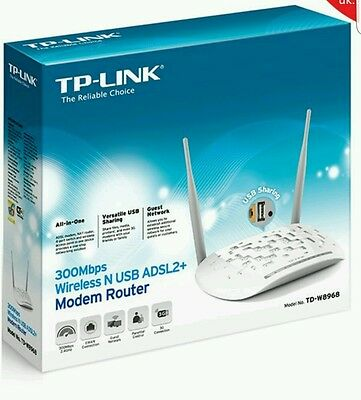 TP-LINK TD-W8968 (Annex A) TP-Link 300Mbps Wireless N ADSL2+ Modem Router with U