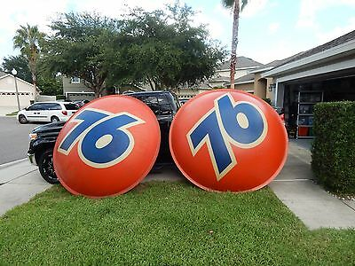 ( 2 )  Union 76 Oil Company 1960's Gasoline  Service Station Sign.. 7 Ft Wide.