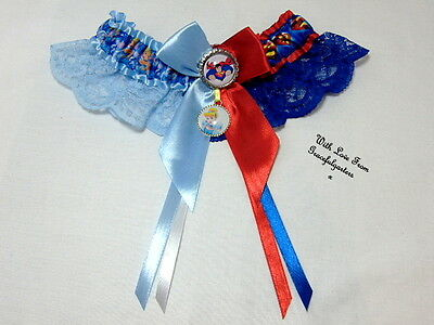 Superman & Cinderella Lace Bridal Wedding Garter. Any 2 characters