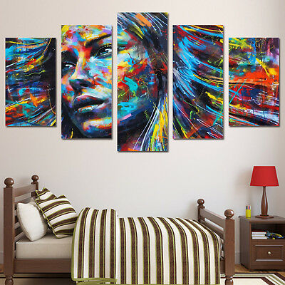 Modern Abstract Oil Painting Wall Decor Art Huge - Multicolored beauty no frame