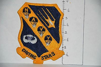 Early Japanese Made Navy Parachute Team Chutting Stars Jacket Patch