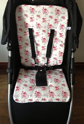 Floral roses baby pram buggy pushchair liner pink new vintage flowers universal