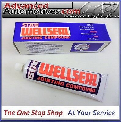 Stag Wellseal 100ml Engine Block Cylinder Head Gasket Shim Sealant Classic Cars