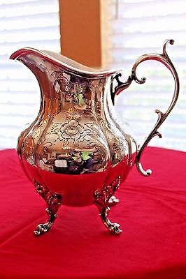 Vintage Reed & Barton 1295C WINTHROP Pattern Silverplate Water Pitcher Hand Chas