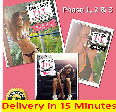 Emily Skye F.I.T phases 1, 2 & 3 & Green Smoothie Recipes 30 Min Delivery