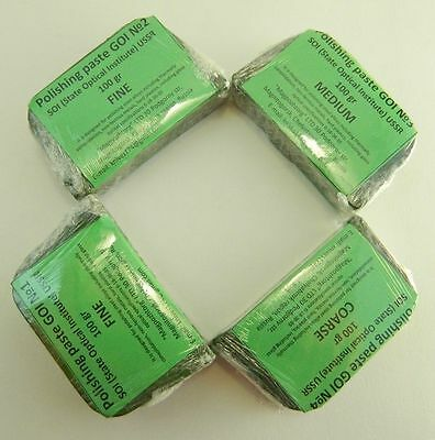 Polishing paste (GOI) set of 4 bricks (Паста ГОИ №1,2,3,4 набор)Made in Russia