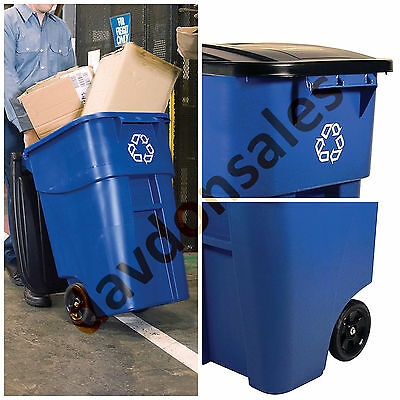 Rollout Waste Container Heavy Duty Utility Commercial Rubbermaid Brute Gallon