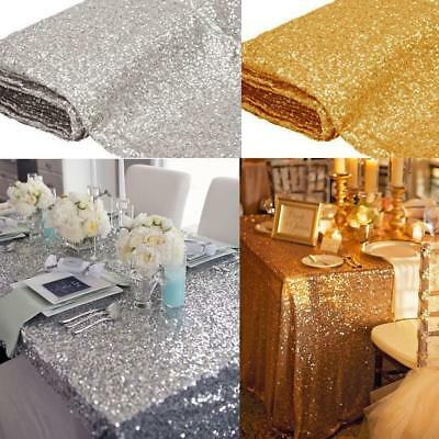 Sequin Tablecloth Table Runner Sparkly Bling Wedding Table Cloth Table Runner LH