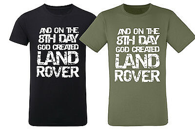 4x4 On the 8th Day God Created Funny Mens T shirt Miltary Green Black New