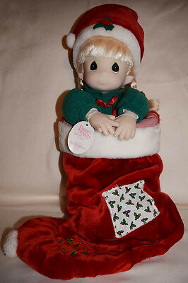 "Precious Moments ""Nicole"" Christmas Stocking Doll"