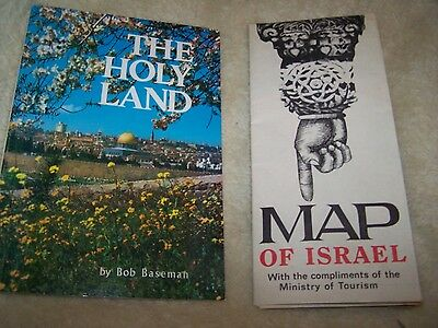 1975 Map of ISRAEL & BOOK OF HOLY LAND