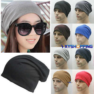 Beanie Hat Mens Ladies Jersey Cotton Unisex Winter Oversized Slouch Hat Cap pop