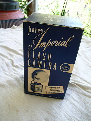 Nos In Box Herco Imperial 620 Snap Shot Camera-Box Camera With Flash