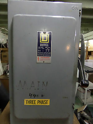 Heavy Duty Square D 200 Amp Safety Switch 3 Phase 600 VAC
