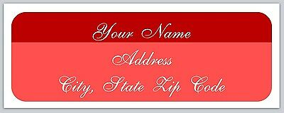 30 Personalized Two Color Return Address Labels Buy 3 get 1 free (bx 71)