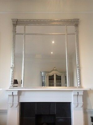 CLEARANCE NEW PRICE! Regency Antique Style Overmantle Mirror - Discounted Price!